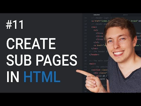 11: How To Create Sub Pages In HTML | Basics Of CSS | Learn HTML And CSS | HTML Tutorial