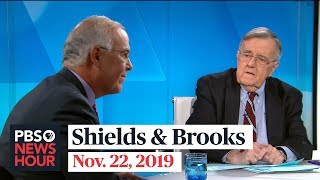 Shields and Brooks on impeachment hearing revelations, Democratic debate takeaways
