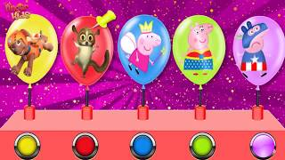Colorful Balloon Paw Patrol My Little Pony Learning Color