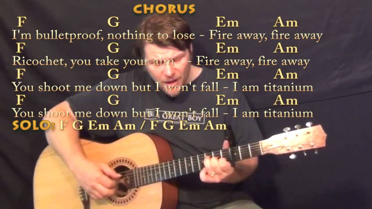 Titanium David Guetta Fingerstyle Guitar Cover Lesson With Chords