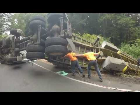 LOADED VOLVO  SEMI ROLLOVER