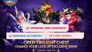 MOBILE LEGENDS! TWILIGHT CHEST EVENT NOW OPEN!! GET YOUR EPIC SKINS NOW!!