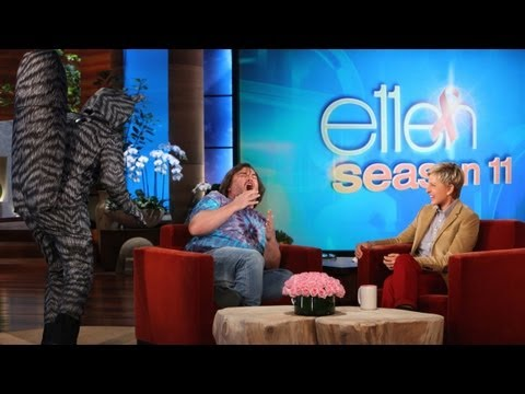 Jack Black Gets Scared by a Raccoon