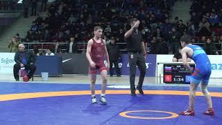 1/8 final FS - 51 kg: Adam Arxiyev (RUS) - Emin Mustafazadə (AZE)