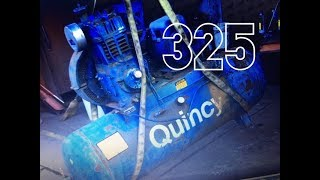 Quincy 325 Air Compressor . Bringing it home .
