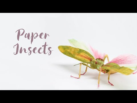 Paper Insects by faltmanufaktur