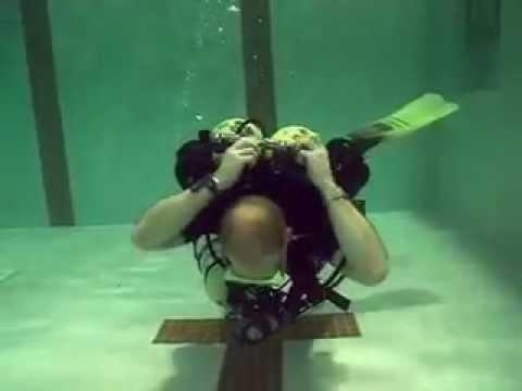 Scuba diving advanced skills demonstration
