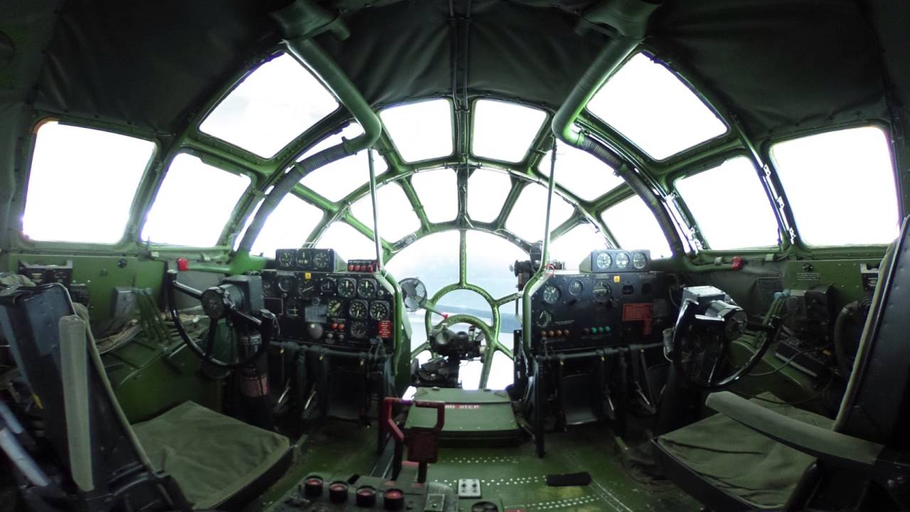 B 29 Inside 360 view of a B-29 coc...