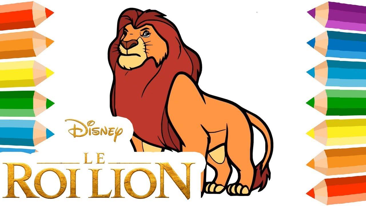 Coloriage ROI LION & Dessin Roi Lion sur Coloriage.info