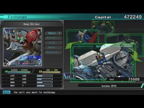 SD Gundam G Generation Genesis the first Blue Destiny Interlude