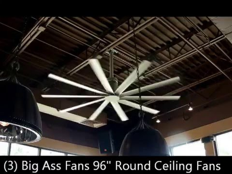 "(3) Big Ass Fans 96"" Ceiling Fans - Lauro Auctioneers Restaurant Equipment Auction South Florida"