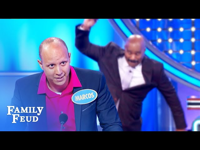 What is sexier in black?? Steve Harvey slams his card! | Family Feud