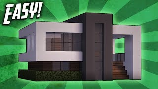 Minecraft: How To Build A Small Modern House Tutorial (#14)