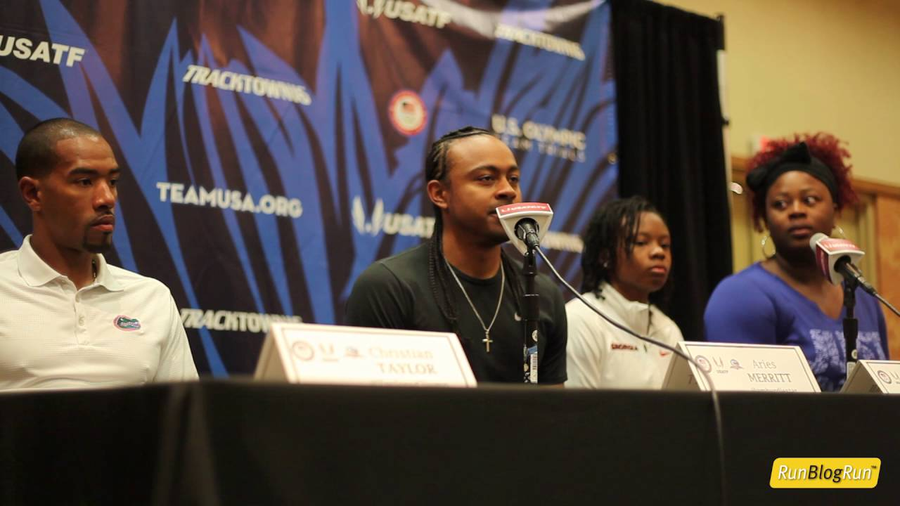 Aries Merritt @ 2016 Olympic Trials Press Conference