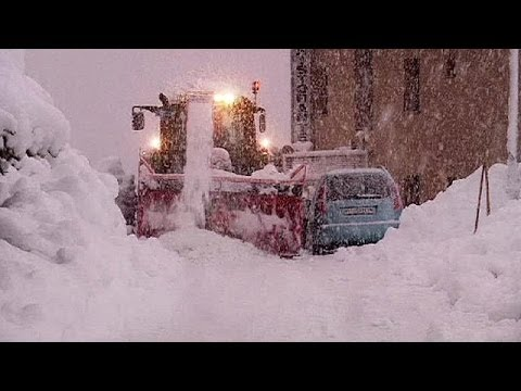 More than a metre of snow in Swiss Alps in 12 hours