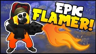 Guns Up! - FLAME THROWERS ARE INSANE! My Crazy New Unit Destroys All (Guns Up Multiplayer Gameplay)