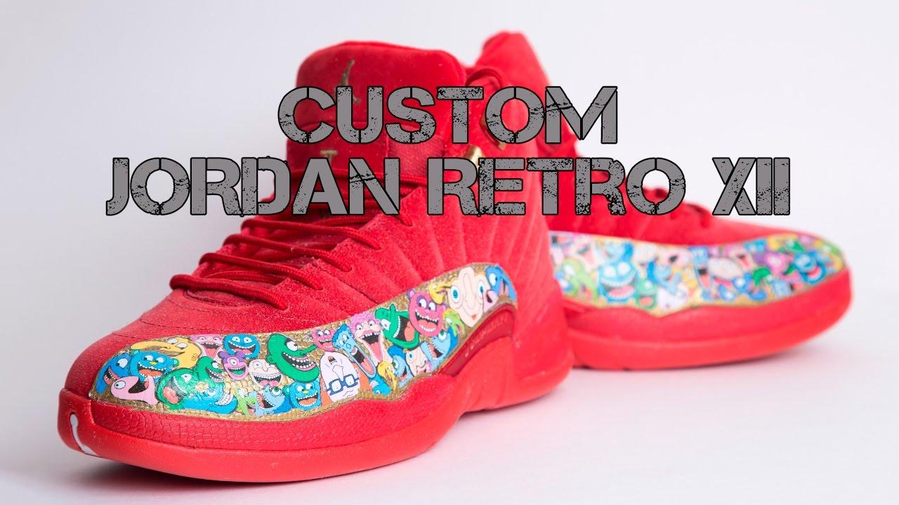 e963c9c5f14c Custom Jordan Retro 12 XII - Funny Figures - YouTube