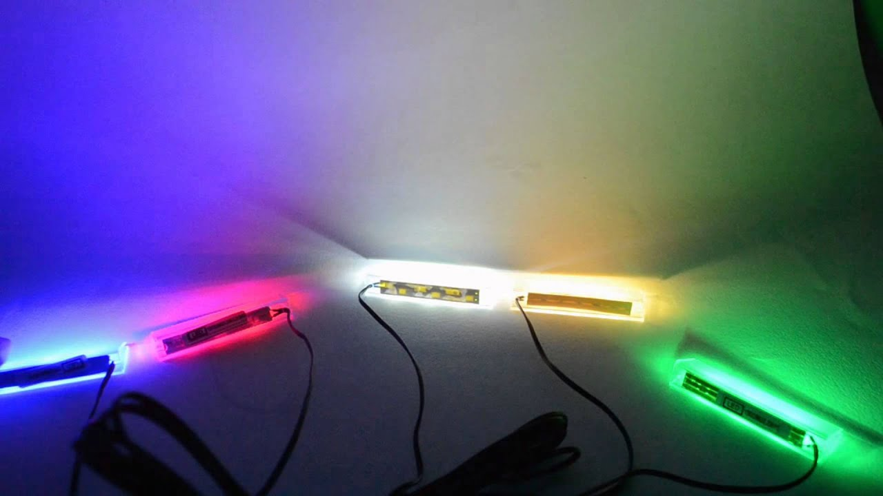 RGB LED OR MONO COLOURS LED CLIPS BLUE LED LIGHT CLIP GLASS SHELF LED LIGHT SET