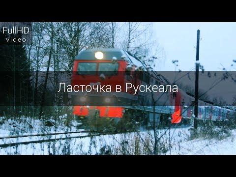 """Запуск скоростного поезда """"Ласточка"""" в Горный парк Рускеала"""