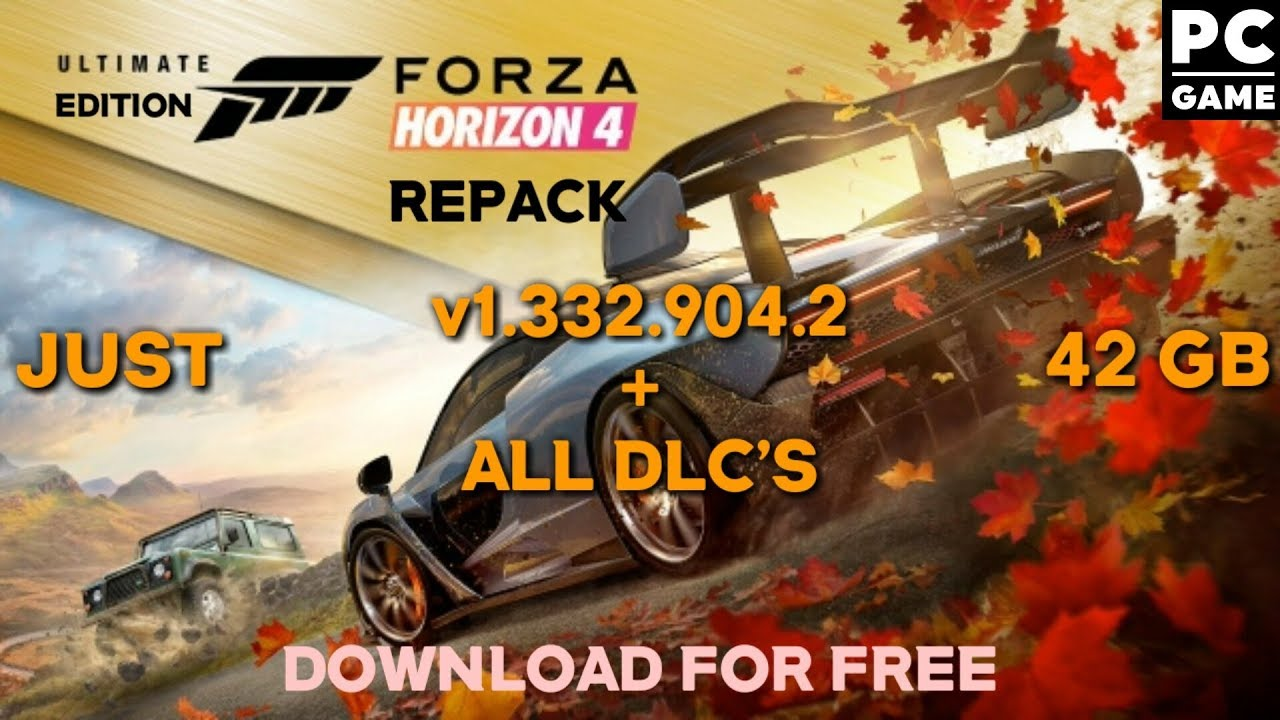 Forza Horizon 4 Ultimate Edition v1 332 904 2 + All DLCS Repack Free  Download