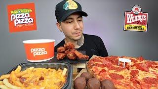 EATING Pepperoni Pizza, Chilli Cheese Fries, Buffalo Wings, Chocolate Truffle MUKBANG