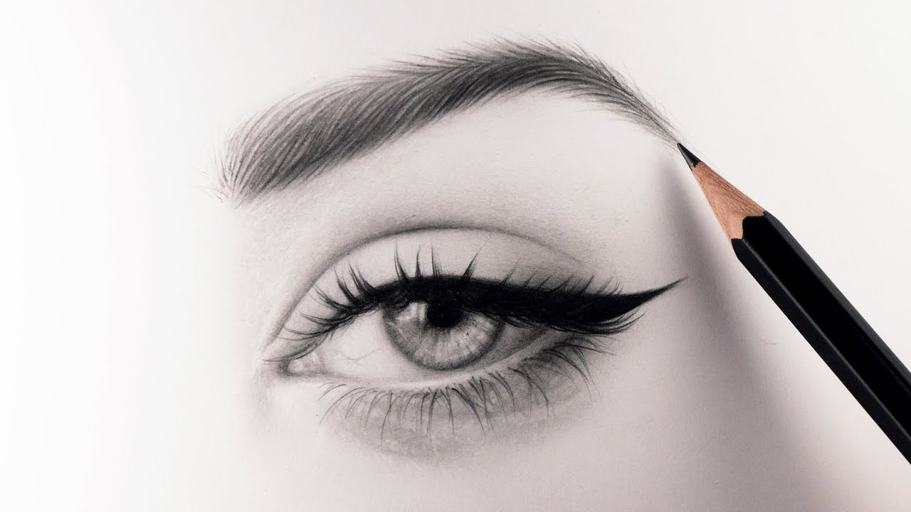 How to draw realistic eyebrows narrated