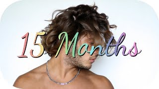 Hair Growth Time Lapse - 1 Year & 3 Months