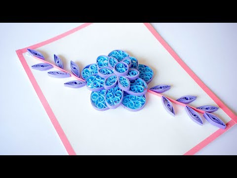 Quilling Flower - How to make Quilling Flowers - Paper Quilling Designs for Beginners - DIY 💚