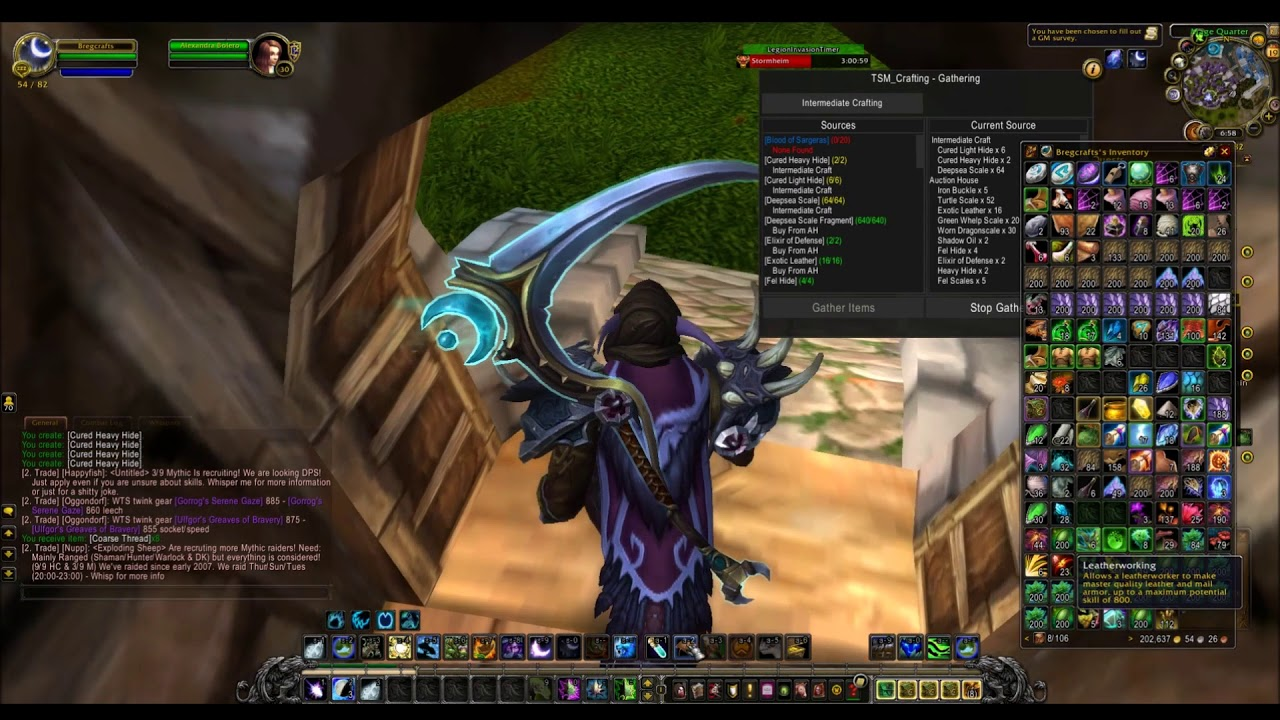 400k Profit in 30 Minutes of Leatherworking   Legion Gear and Transmog    Daily Craft #7