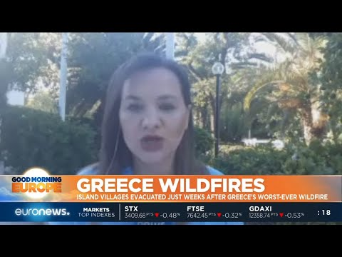 #GME | Firefighters have been battling a forest fire on Greece's second-largest island