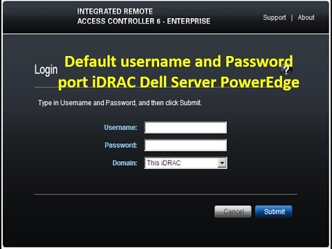 dell idrac change password