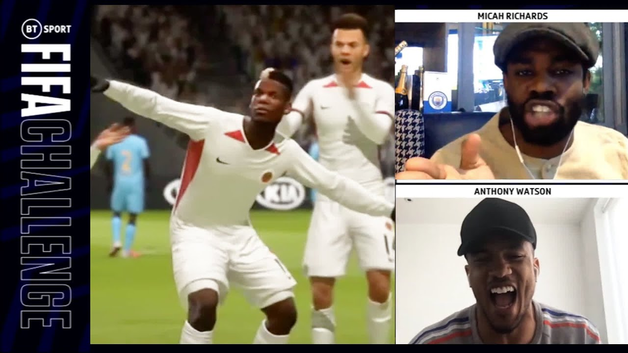 Micah Richards for the BT Sport FIFA Challenge