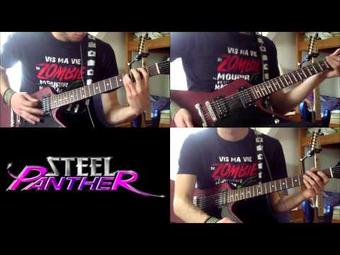 Steel Panther - B.V.S : COVER Guitar FULL SONG (HD) with SOLO