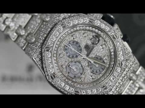 Diamonds Audemars Piguet Royal Oak Offshore Watch Diamond Dial, Case, Bracelet