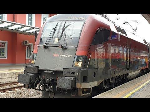ÖBB-Zugverkehr In Jenbach (Tirol) - Railjets, REX, Güterzüge Und S-Bahnen