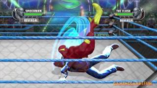 WWE All Stars (Spiderman Vs The Flash Incl. Slow Mo & Fast Mo) 60FPS