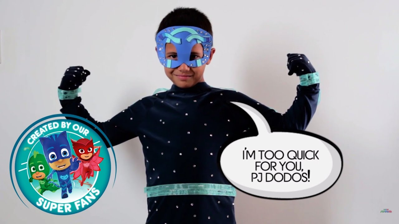 & DIY Halloween Costume for PJ Masks villain NIGHT NINJA!! - YouTube