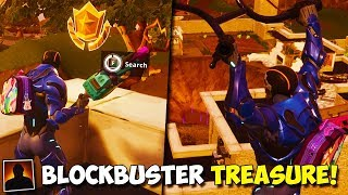 *NEW* SECRET BLOCKBUSTER CHALLENGE TREASURE FOUND IN FORTNITE! | Week 1 Blockbuster Reward Location