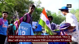 India vs WI 2nd T20I: Cricket fans throng Thiruvananthapuram stadium