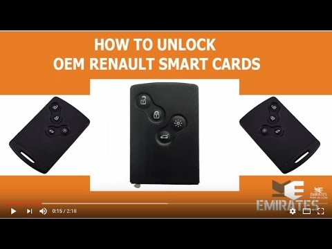 How To Unlock OEM Renault Smart Cards via MK3