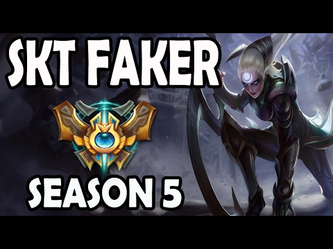 SKT T1 Faker Diana vs Twisted Fate MID Ranked Diamond EUW