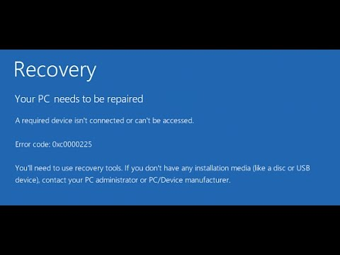 How to Fix Error Code 0xc0000225 Windows 10 - Fixed Easily