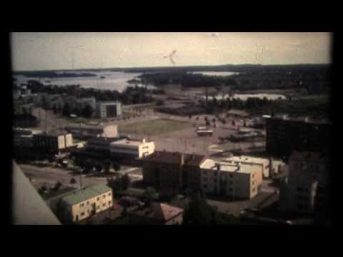 Varkaus-Taulumäki- water tower, old mute narrow film 1980`s