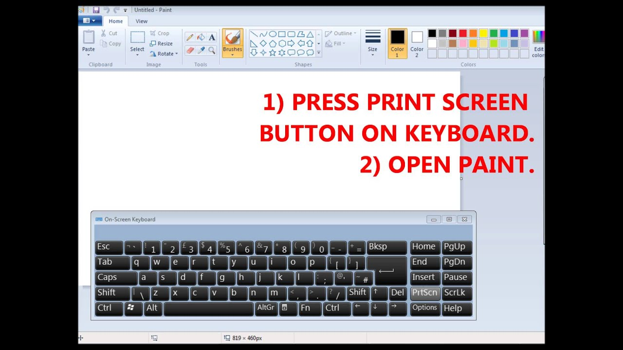 How to copy any image on your computer screen print screen youtube how to copy any image on your computer screen print screen ccuart Images