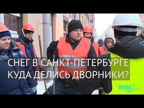 Снег в Санкт-Петербурге. Куда делись дворники?