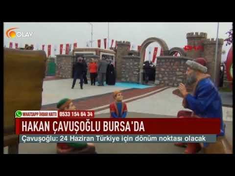 Hakan Çavuşoğlu Bursa'da