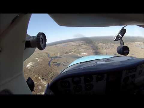 Flying in Botswana