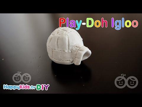Play Doh Igloo | Kid's Crafts And Activities | Happykids DIY