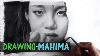MAHIMA APCHUNNA RAI-Pencil Drawing by rahzunart
