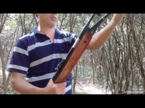 Rifle de aire comprimido modificado cal. 22 La mejor modificaci�n.!!
